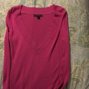 Express size small magenta v-neck sweater